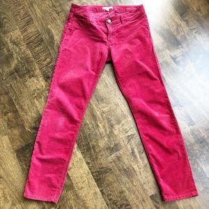CAbi Red Corduroy Skinny Pants Size 6